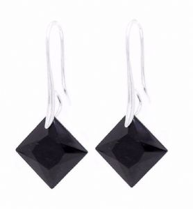 Black Diamond Crystal Earrings